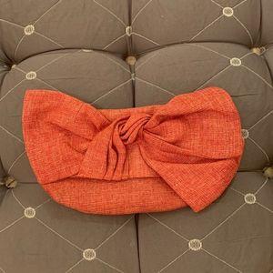 Poppie Bow Clutch - Clementine